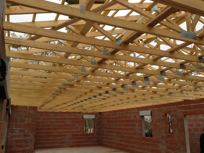 Maison contemporaine : chantier 11