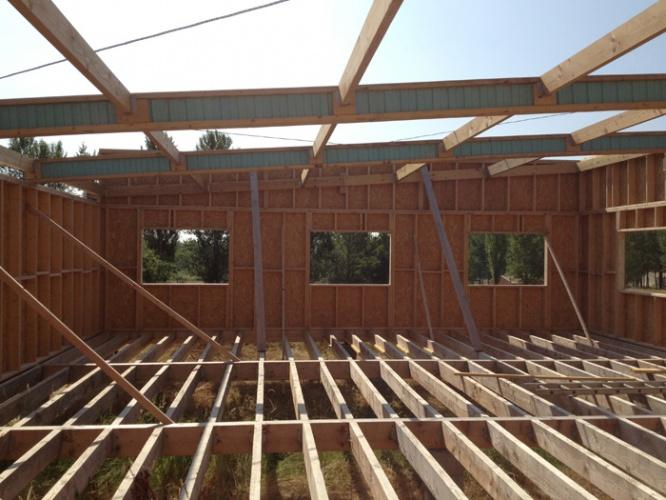 Maison à ossature bois : ossature