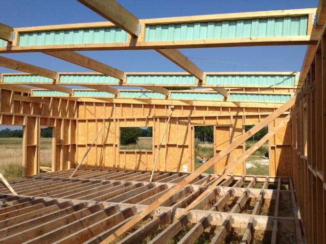 Maison à ossature bois : ossature 2