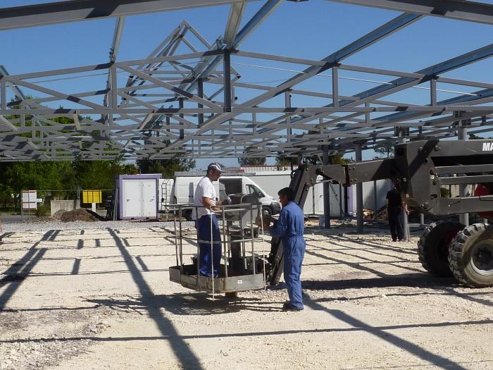 Bâtiment commercial : Tallaris chantier