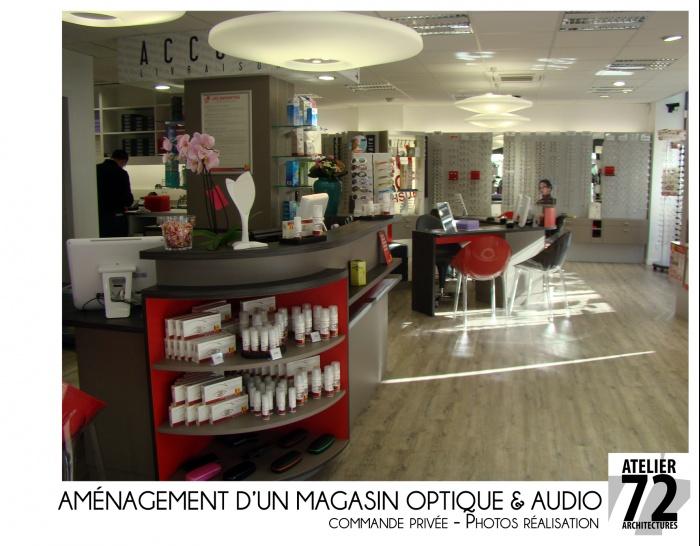 magasin optique audition barbezieux saint hilaire une r alisation de atelier72. Black Bedroom Furniture Sets. Home Design Ideas