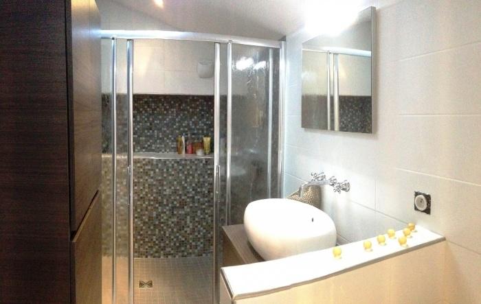 rénovation échoppe : salle d\'eau mezzanine
