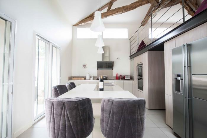 rénovation habitation et locaux professionnels : cuisine et ilot