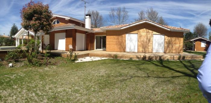 extension et rénovation habitation : 2 facade arrière côté piscine après travaux