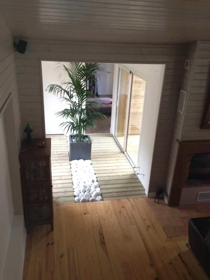 extension et rénovation habitation : 5 vue du patio de l'extension