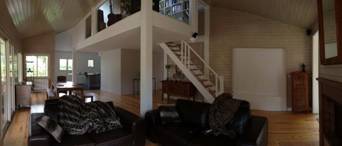extension et rénovation habitation : 6 vue du séjour et de la mezzanine