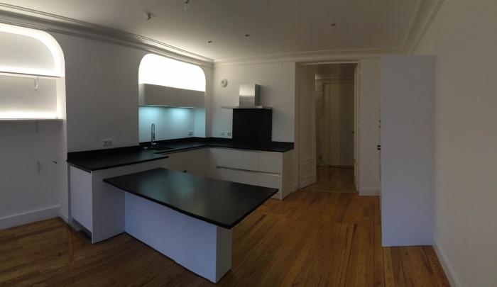 transformation Bureaux en appartement : cuisine