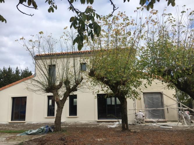 Réhabilitation totale, extension et surélévation d'une habitation existante MERIGNAC : Fin chantier